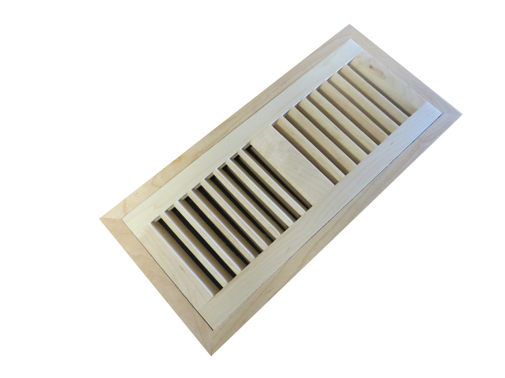 Maple Natural Prefinished Flush Mount Vent