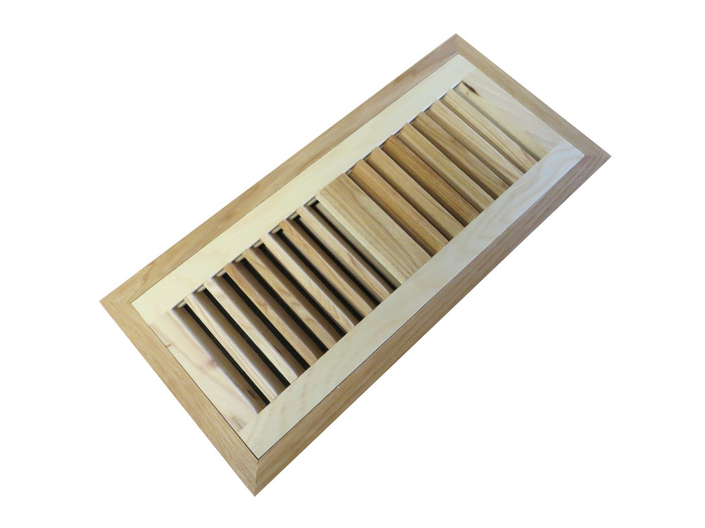 Hickory Pecan Prefinished Flush Mount Vent