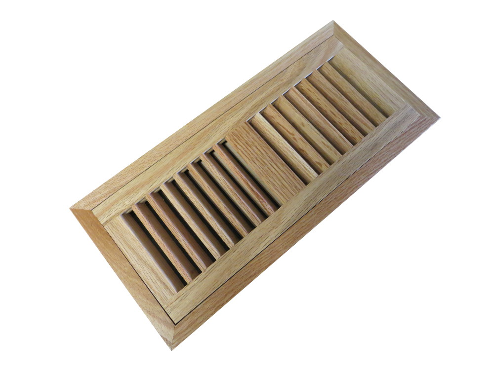 Red Oak Natural Prefinished Flush Mount Vent